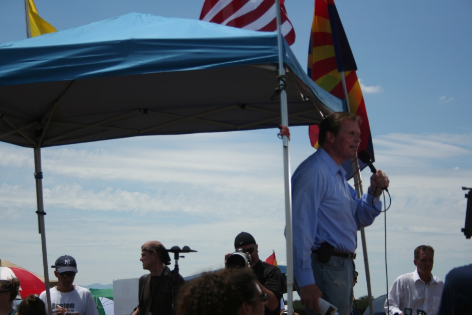 J.D. Hayworth, Republican candidate for U.S. Senate in 2010, spoke at a rally to support SB 1070 in Cochise County in August 2010. Photo by Curtis Prendergast