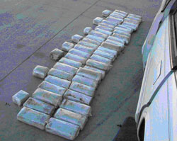 CBP officers working the Lukeville Port arrested a 23-year-old Mexican male Monday after he attempted to enter the United States with 25 packages of marijuana concealed in the gas tank of the vehicle he was driving. Photo and caption courtesy U.S. Customs and Border Protection.